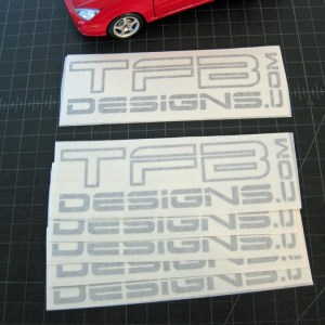 TFB Designs Decal – 6 Inches Wide / Many Colors – Vinyl Sticker