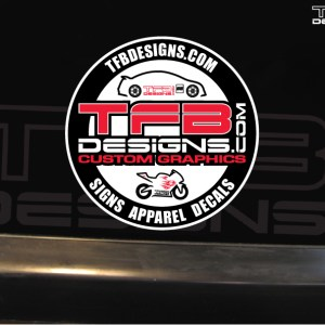 TFB Designs Round Full Color Decal – 3″x3″ Decal – Vinyl Sticker