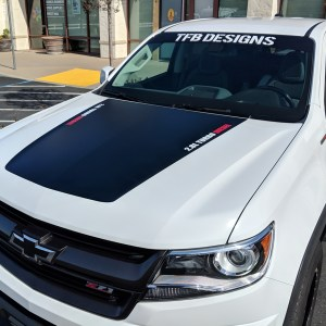 Hood Logo Decals for the 2015-2020 Chevy Colorado
