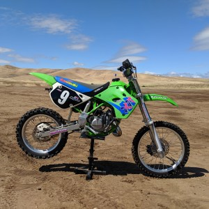 Retro Style Graphics for the 1991-1997 Kawasaki KX80 / KX100