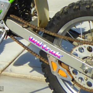 UniTrak Swingarm Decals 1991-1997 Kawasaki KX80 / KX100