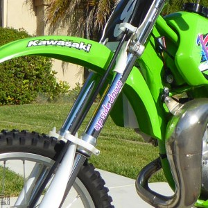 Up Side Down Fork Decals 1991-1997 Kawasaki KX80 / KX100