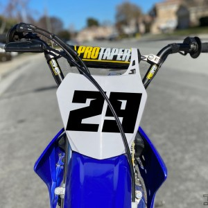 Sharp Number Decal – Race Car, Dirt Bike, BMX Racing