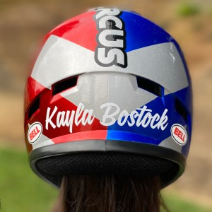 Helmet Name Decal – Your Choice of Color