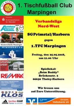 Verbandsliga Nord-West: SG Primstal/Hasborn - 1.TFC Marpingen @ Beim Buddy | Tholey | Saarland | Deutschland