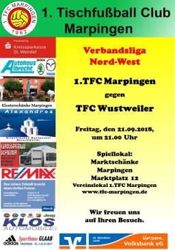 Verbandsliga Nord-West: 1.TFC Marpingen - RC Wustweiler @ Vereinslokal Marktschänke | Marpingen | Saarland | Deutschland