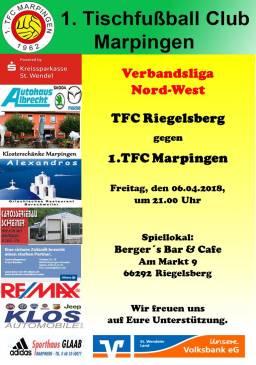 Verbandsliga Nord-West: TFC Riegelsberg 1 - 1.TFC Marpingen @ Berger´s Bar & Café | Riegelsberg | Saarland | Deutschland