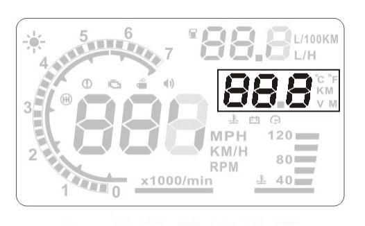 A8 5.5'' Universal Car HUD Digital Head Up Display OBD2