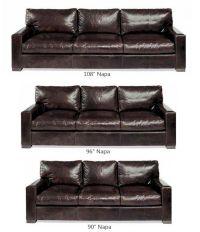 Napa (maxwell) Oversized Seating Leather Sofa & Set