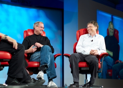 Steve Jobs, Bill Gates