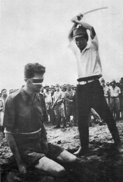 Australian POW about to be executed by his Japanese captors