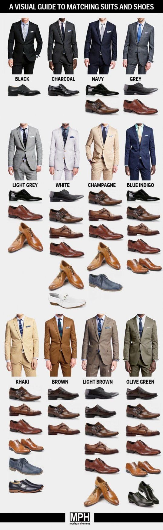 How to Pick the Perfect Pair of Shoes for Every Suit Color