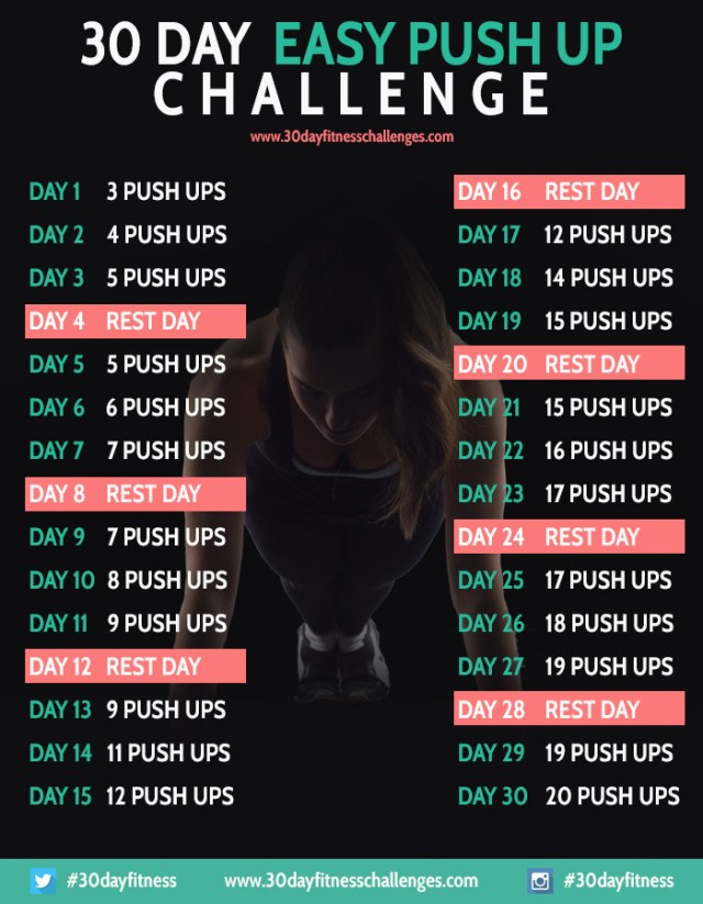 30 Day Easy Push-up Challenge