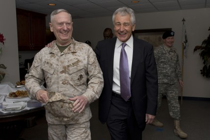 Secretary_of_Defense_Chuck_Hagel_laughs_with_General_James_Mattis_after_the_U.S._Central_Command_change_of_command_at_McDill_Air_Force_Base_in_Tampa_Florida