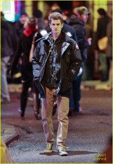 Emma Stone and Andrew Garfiled filming the 'Amazing Spiderman 2' in Chinatown in NYC