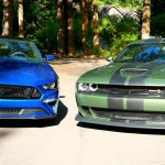 2018 Ford Mustang Gt Vs Dodge Challenger Srt Hellcat Widebody Twice The Money Twice The Car Video The Fast Lane Car