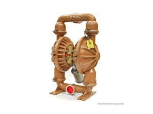 """Nomad 50-51198 Trans-Flo Gold 2"""" Diaphragm Pump With Aluminium Centre Section and Ductile Body (Viton Seats"""