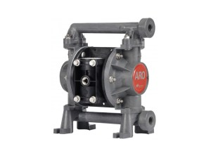 "Aro¨ PD03P-BES-SST Compact Series 3/8"" Diaphragm Pump With Polypropylene Centre Section and Groundable Acetal (multiple port) Body (Stainless Steel Seats"