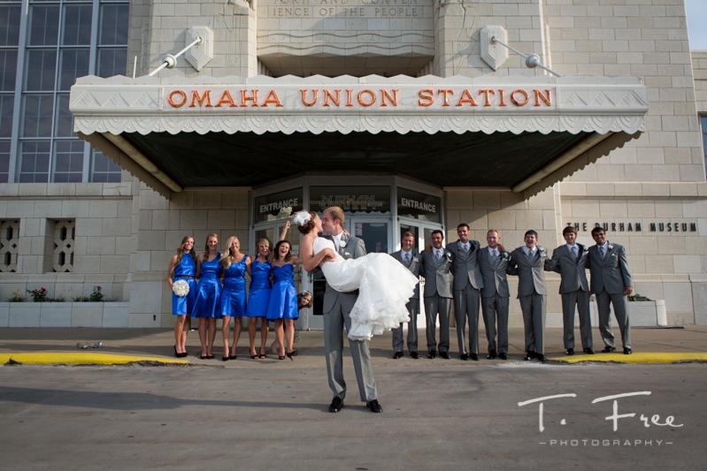 Durham Museum wedding omaha photographer  Brian  Mariah  T Free Photography