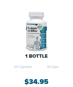 An image of a bottle of probiotic 40 billion - Probiotics Review