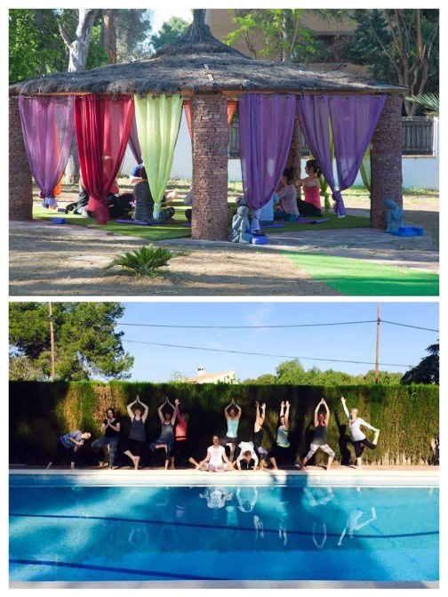 Vivien Retreat Pose By Pool-COLLAGE