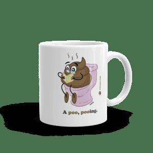 A poo pooing Mug