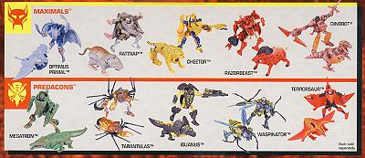 beast wars transformers toyline
