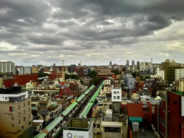 Views from the roof top of Asakusa Information Center building