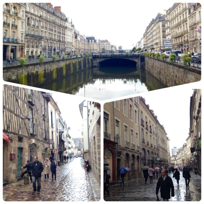 レンヌ旧市街。