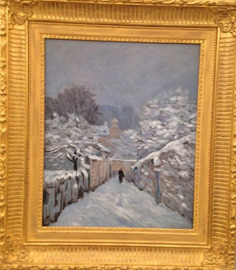 ルーヴシエンヌの雪 アルフレッド・シスレー