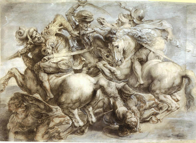 アンギアーリの戦いとカスチーナの戦い レオナルド・ダ・ヴィンチ、ミケランジェロ