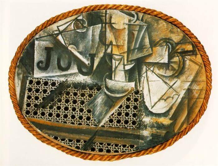 籐椅子のある静物 パブロ・ピカソ