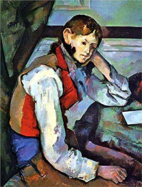 赤いチョッキの少年 ポール・セザンヌ