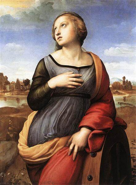 アレキサンドリアの聖カタリナ ラファエッロ・サンツィオ