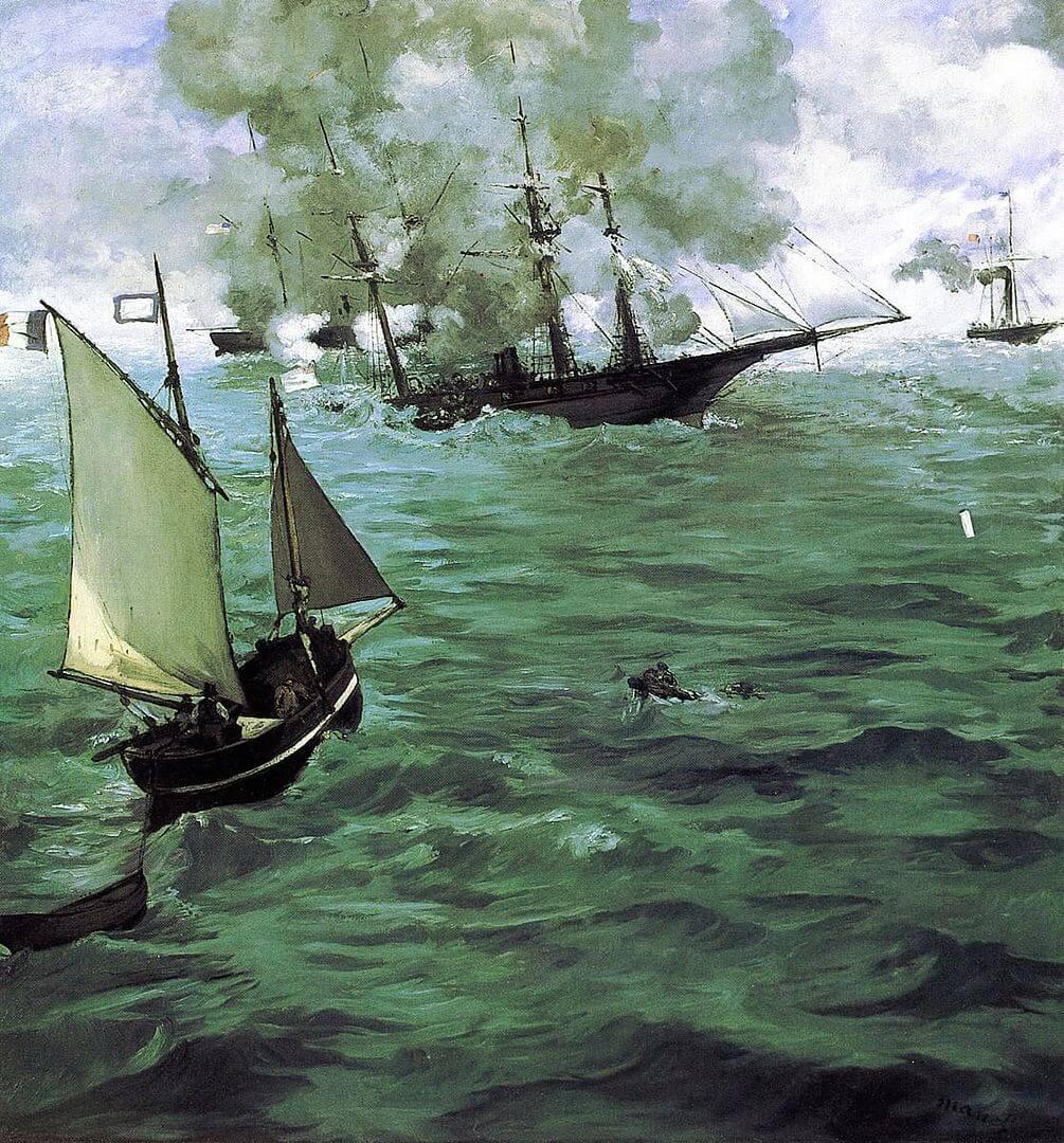 キアサージ号とアラバマ号の海戦 エドゥアール・マネ