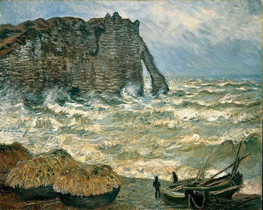 エトルタの嵐の海 クロード・モネ