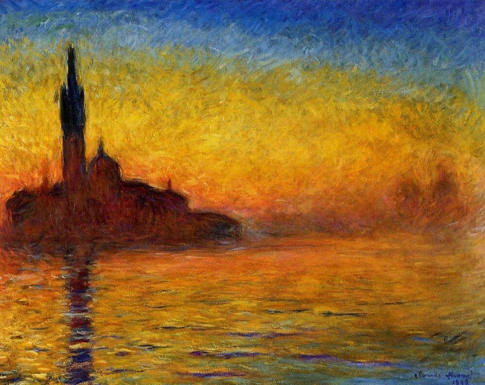 黄昏、ベネチア クロード・モネ