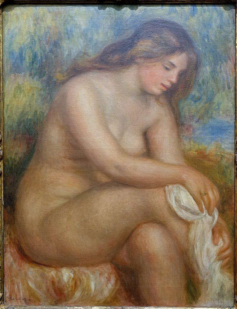足を拭く浴女 ルノワール