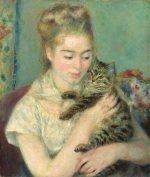 猫を抱く女 ルノワール