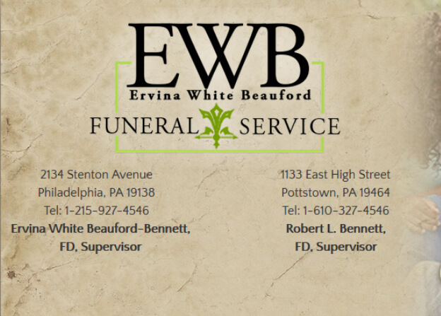 Ervina White Beauford Funeral Services