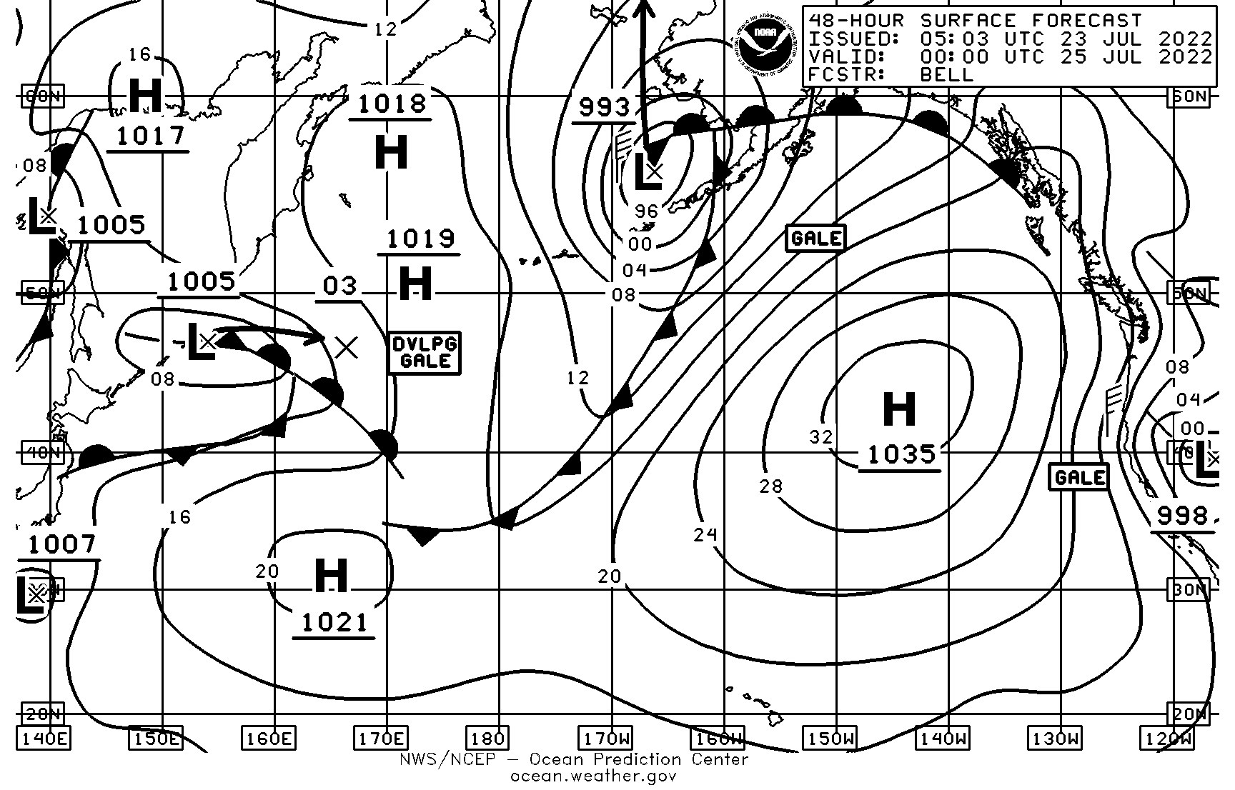 NWS Surface Analysis / Forecast Fax Charts