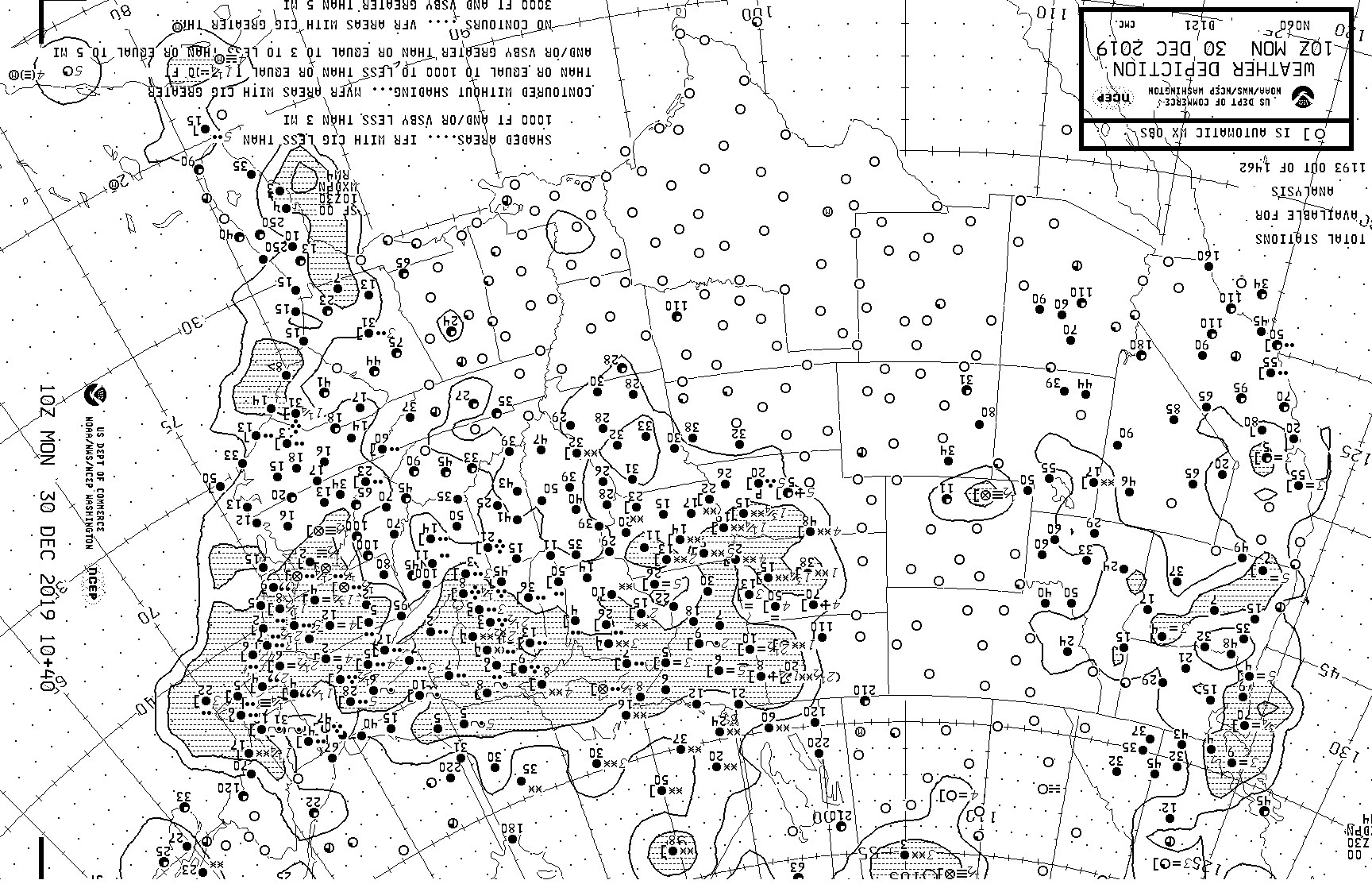 NWS Weather Depiction / Significant Weather Fax Charts