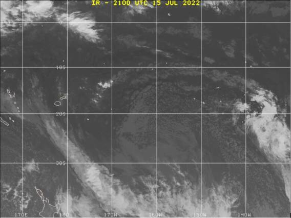 Southwest Pacific satellite image