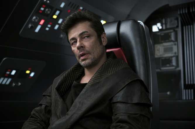 Benicio del Toro as DJ in THE LAST JEDI.