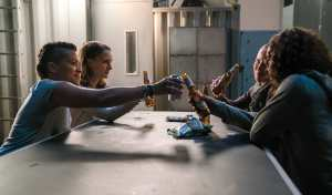 Gina Rodriguez, Natalie Portman, Tessa Thompson and Tuva Novotny in Annihilation from Paramount Pictures and Skydance.