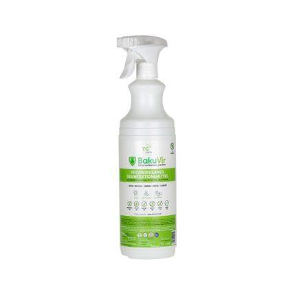 BakuVir ein Liter Flasche mit Sprühkopf ideal für Flächen- und Händedesinfektion