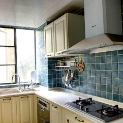 Kitchen Mosaic Cabinets Brooklyn 复古地中海风厨房马赛克墙砖效果图 厨房马赛克