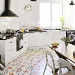 Kitchen Floor Covering Espresso Shaker Cabinets 另类厨房地板瓷砖装修设计 齐家网装修效果图