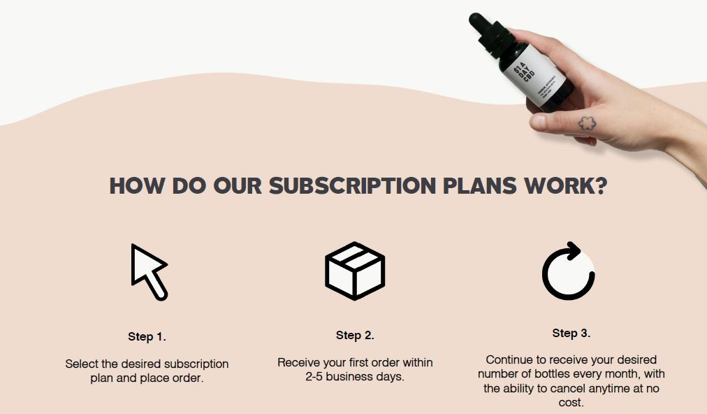 cbd oil subscription plan