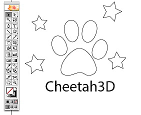 Adobe Illustrator to Cheetah3D